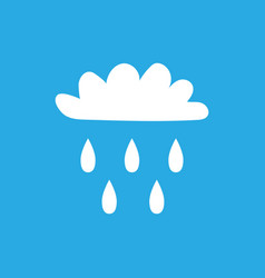 Cloud with rain sign 505 vector