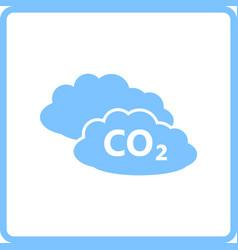 co 2 cloud icon vector image