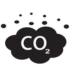 co2 icon on white background flat style carbon vector image