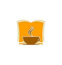 coffee book icon logo design element vector image