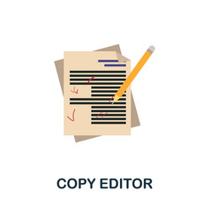 Copy editor flat icon color simple element from vector