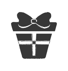 Dark box gift presnt party bow vector