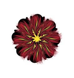 Decorative floral pattern motif flower vector image