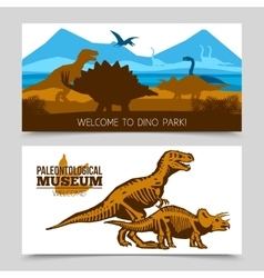 Dinosaurs Horizontal Banners vector