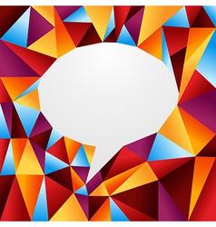 Diversity origami speech bubble vector
