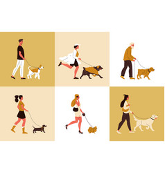 Dog breeds design concept vector
