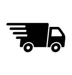 fast shipping delivery truck flat icon for apps vector image