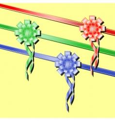 Festive ribbons vector