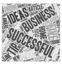 Five Tips for Successful Work at Home Business vector