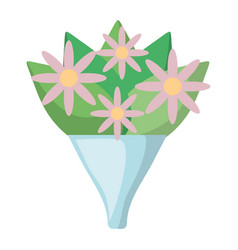 Flowers bouquet isolated icon vector