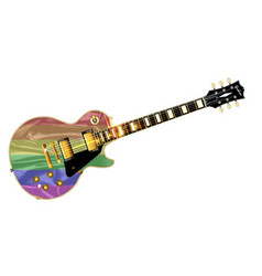 Gay pride guitar vector
