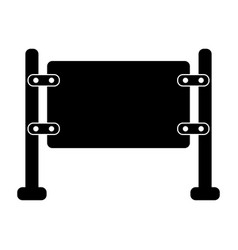 Glass gate icon vector