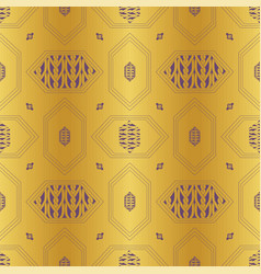 gold braided chain hexagon seamless pattern vector image