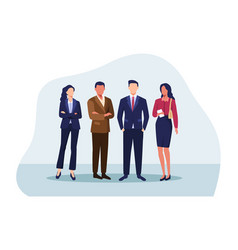 group business people vector image