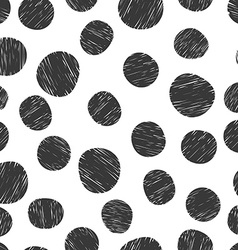 Hand drawn pattern from circles vector image