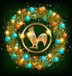 happy new year 2017 rooster vector image