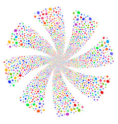Hint fireworks swirl flower vector