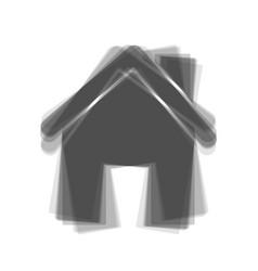 home silhouette gray icon vector image