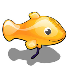 inflatable balloon in the form of a yellow fish vector image
