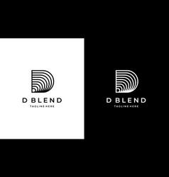 initial letter d blend logo design vector image