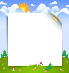 landscape with paper sheet vector image