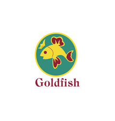 logo goldfish with vector image