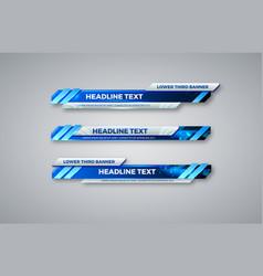 Lower third banner tv bars set streaming video vector
