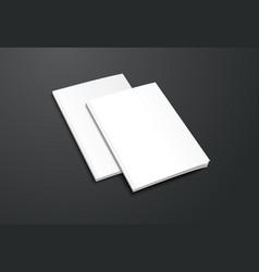 Mockup white brochure on black background vector