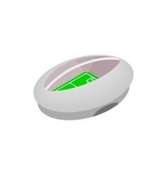 Modern fotball stadium isometric icon vector image