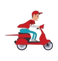 motorcycle man transportation delivery design vector image