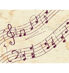 Musical note background on the paper vector image