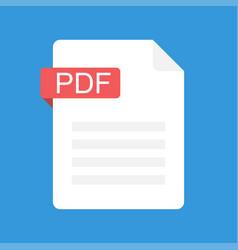 pdf file icon flat design graphic vector image