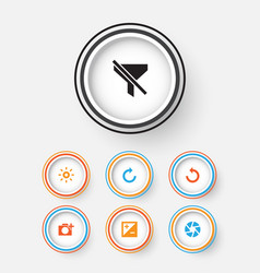 Photo icons set collection of mode photographing vector