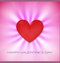 pink valentine day wishing background card flying vector image
