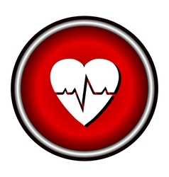 Pulse hearth icon vector image