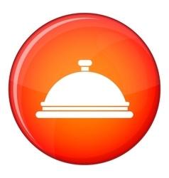 Restaurant cloche icon flat style vector image
