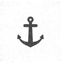 Retro anchor icon Stock of anchor icon vector image