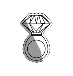 ring gold jewelry gemstone vector image