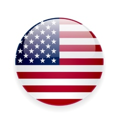 Round icon with flag usa vector