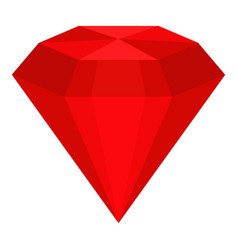 Ruby icon isolated vector