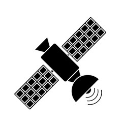 Satellite antenna communication wireless pictogram vector