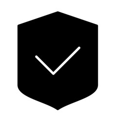 security shield silhouette icon vector image