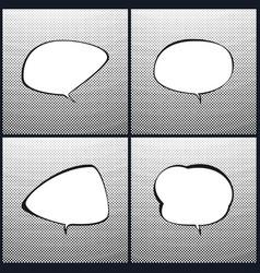 Set of speech bubblegradient down up vector