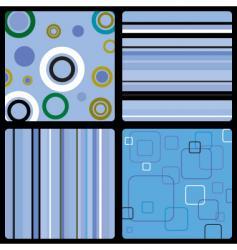 Seventies wallpaper blue vector