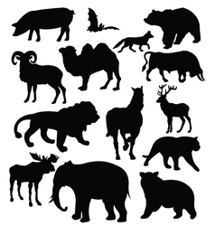 silhouette of animals vector image