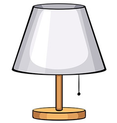 Single lamp vector image
