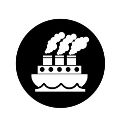 Steam boat isolated icon vector