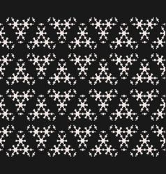 subtle geometric texture monochrome snowflake vector image