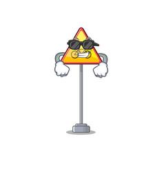 Super cool no cycling character shaped a mascot vector
