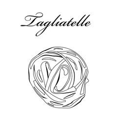 tagliatelle pasta authentic italian pasta hand vector image